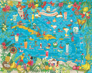 Cocktails of the Caribbean 1000 Piece Jigsaw Puzzle