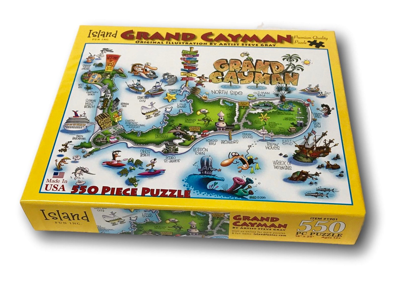 Grand Cayman Jigsaw Puzzle by artist Steve Gray Gray Box