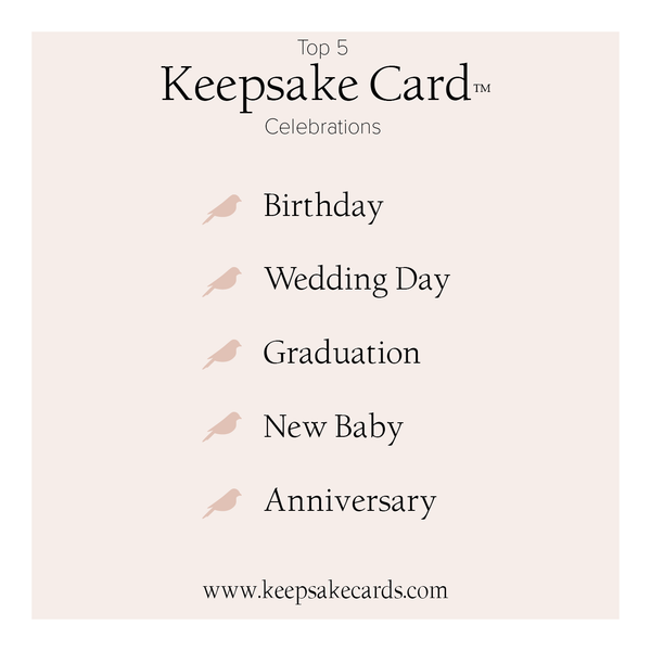 Top Reasons to Send a Keepsake  Card