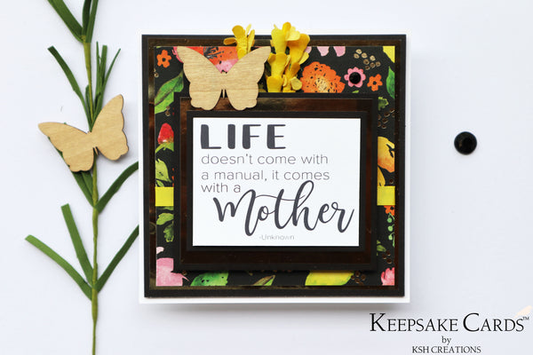 Handcrafted Keepsake Card™ *customizable cover*