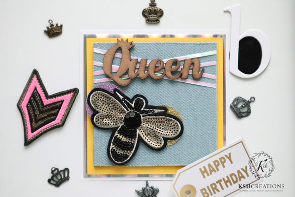 "Handcrafted ""Queen B"" Greeting Card"