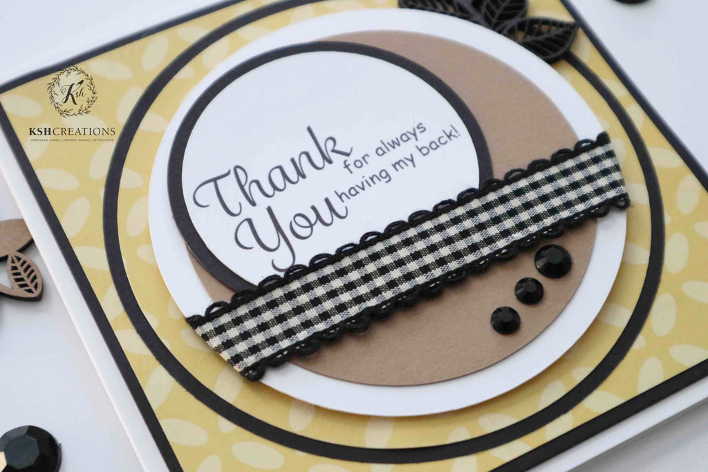 "Handcrafted ""Thank You Friend"" Card"