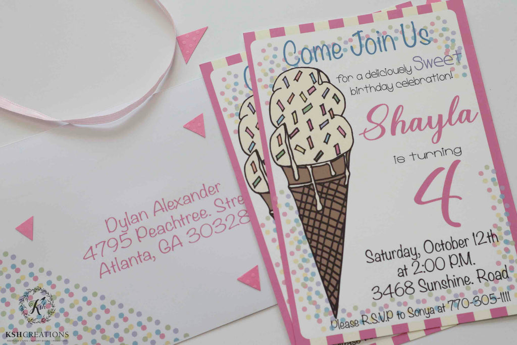 Oh! So Sweet Birthday Party Invitation Suite