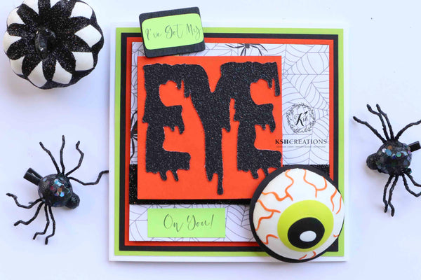 "Handcrafted ""Eye on You"" Greeting Card"