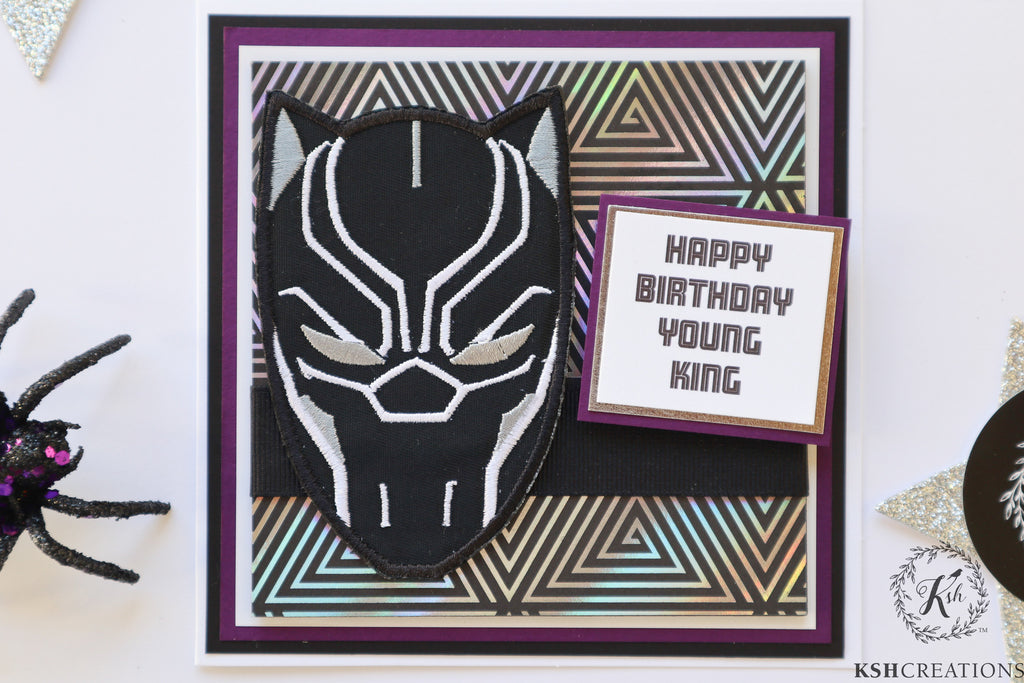 "Handcrafted ""Black Panther"" Card"