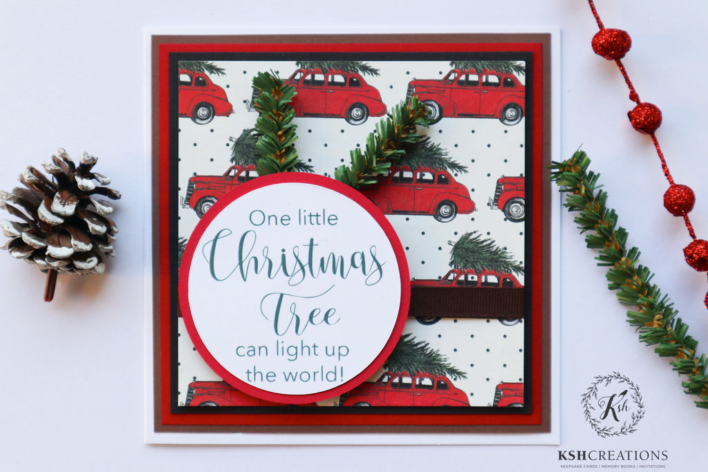 "Handcrafted ""Christmas Tree"" Card_Set"