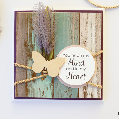 "Handcrafted ""On my mind, In my Heart"" Keepsake Card™"