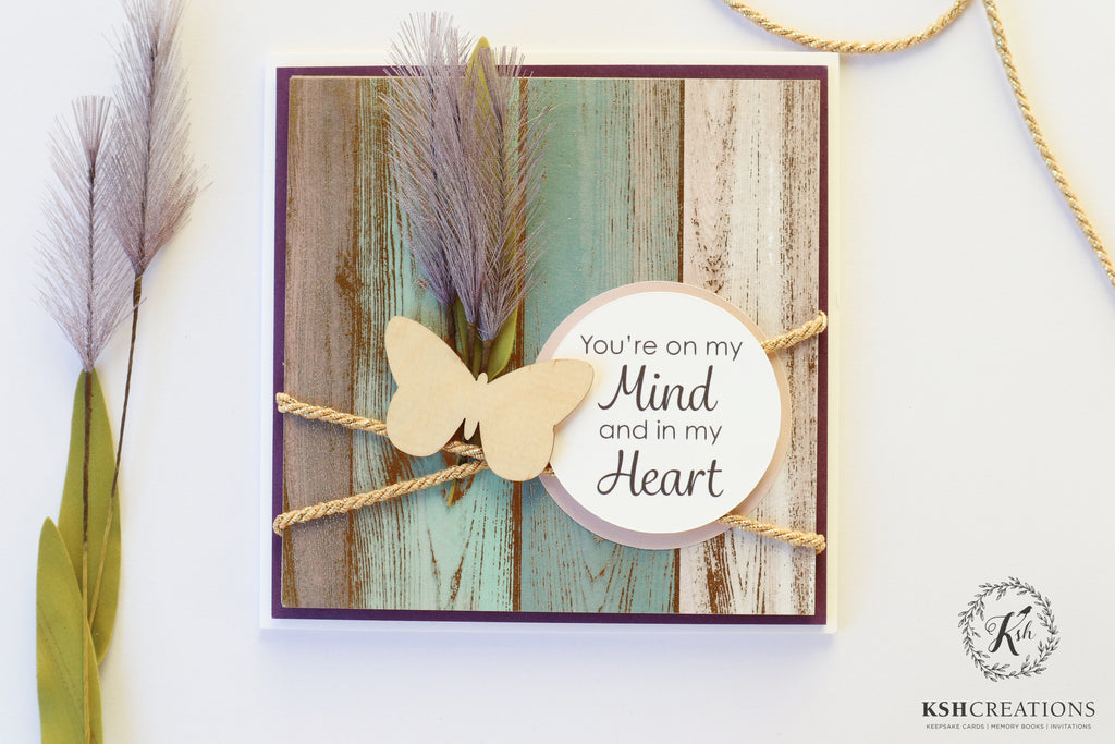 You're on my Mind and in my Heart_Keepsake Card