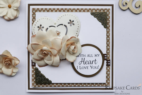 "Handcrafted ""With All My Heart"" Keepsake Card"