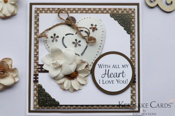 "Handcrafted ""With All My Heart"" Keepsake Card-2"