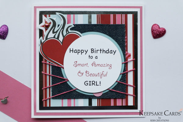 "Handcrafted ""Tween"" Birthday Wishes Card"