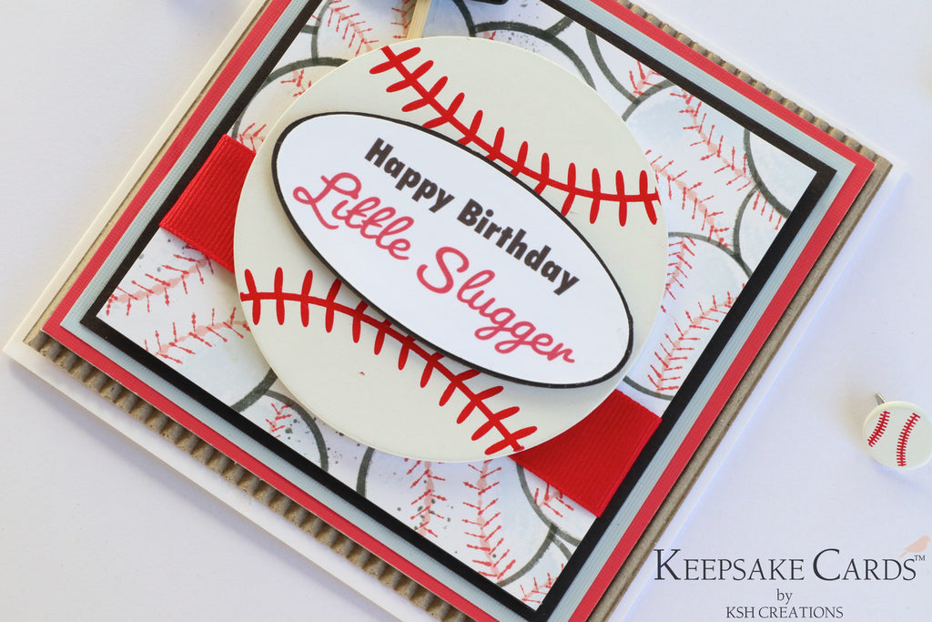"Handcrafted ""Baseball"" Keepsake Card"