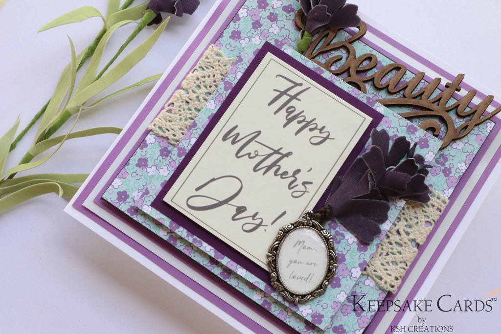 Handcrafted Mother's Day Keepsake Card