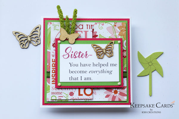 Sister Keepsake Card
