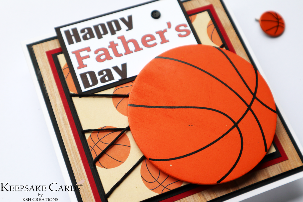 """Basketball"" Father's Day Keepsake Card"
