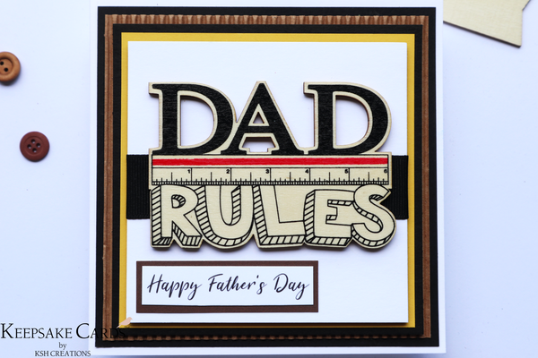 """Dad Rules"" Father's Day Keepsake Card"