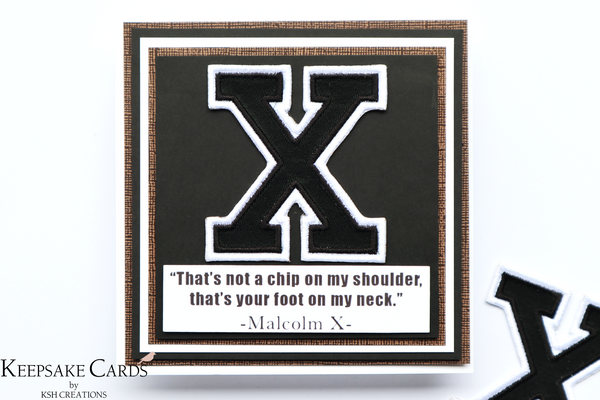 "Keepsake Cards ~ The Justice Collection ""X"""