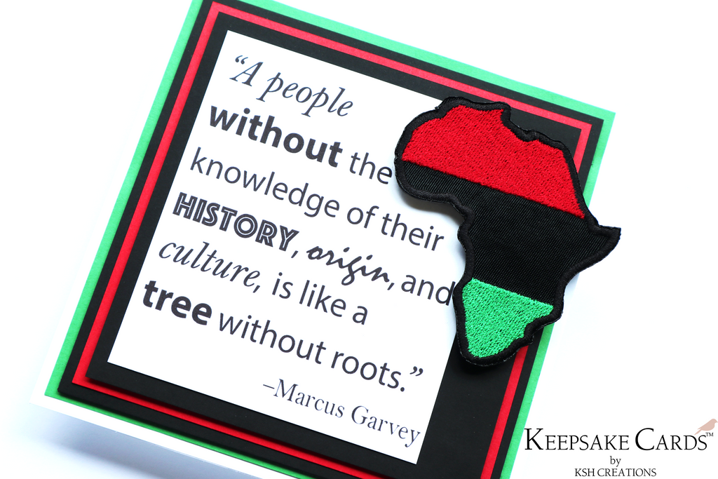 "Keepsake Cards ~ The Justice Collection ""Pan-African"""