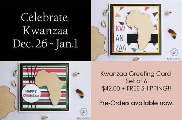 Pre-Order Set of 6 Kwanzaa Greeting Cards