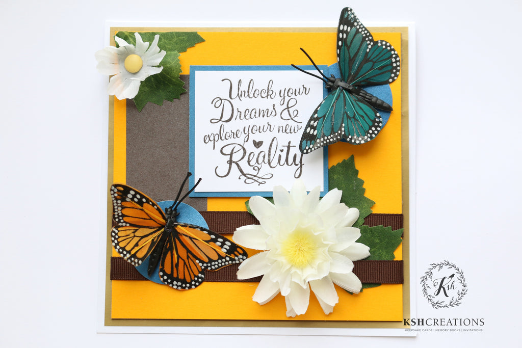"Handcrafted ""Beautiful New Reality"" Greeting Card"