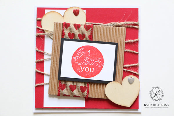 "Rustic Love ""I Love You"" Valentine's Day Card"