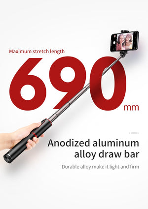 Bluetooth Selfie Stick Portable Camera Tripod for iPhone