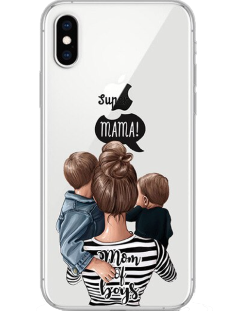 Mom of boys iPhone case