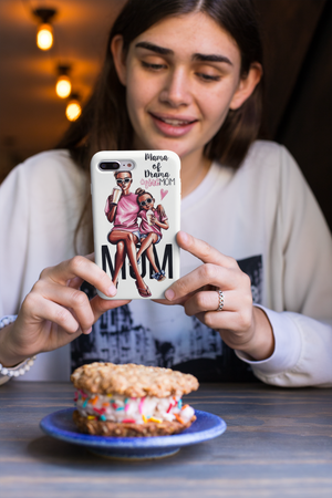 Mama of drama iPhone case