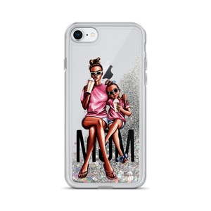 Liquid Glitter Vogue Moms iPhone Case