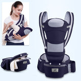 Ergonomic Baby 0-48 Kangaroo Wrap Sling Carrier for Traveling Moms