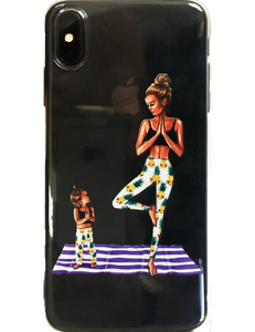 Yoga mom iPhone case