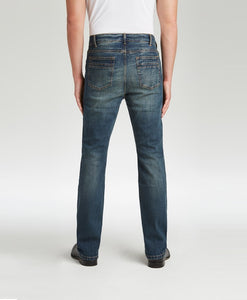 #198-1 Marina Dark Wash Stretch Traditional Straight Cut