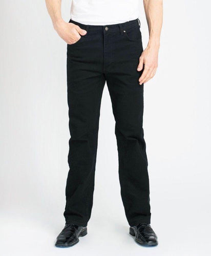 #183  - Black Stretch Traditional Straight Cut
