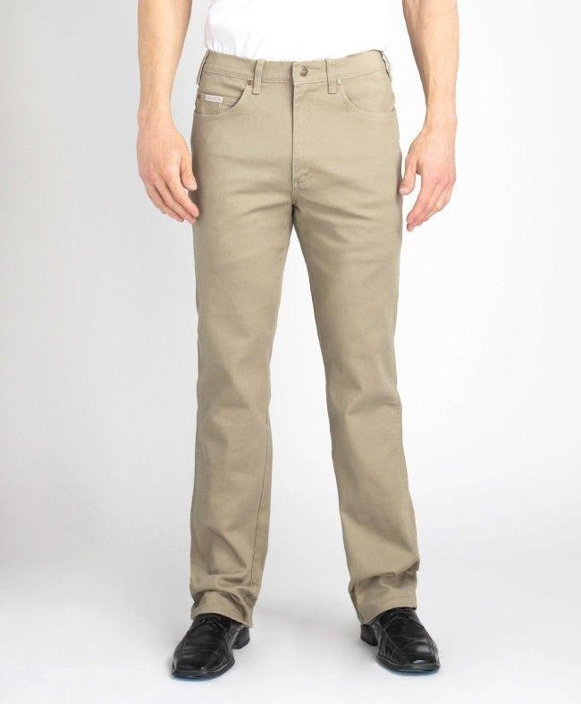#191 - Khaki Stretch Traditional Straight Cut
