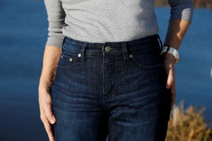 #222 River Curve Stretch - Deep Indigo Jean