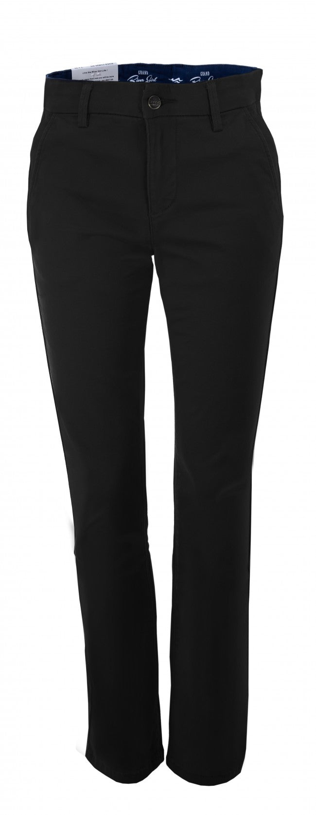 #334 River Curve Stretch - Black Twill Pant