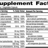 Supplement Facts Panel - Quintabs-M with Iron - Freeda Health