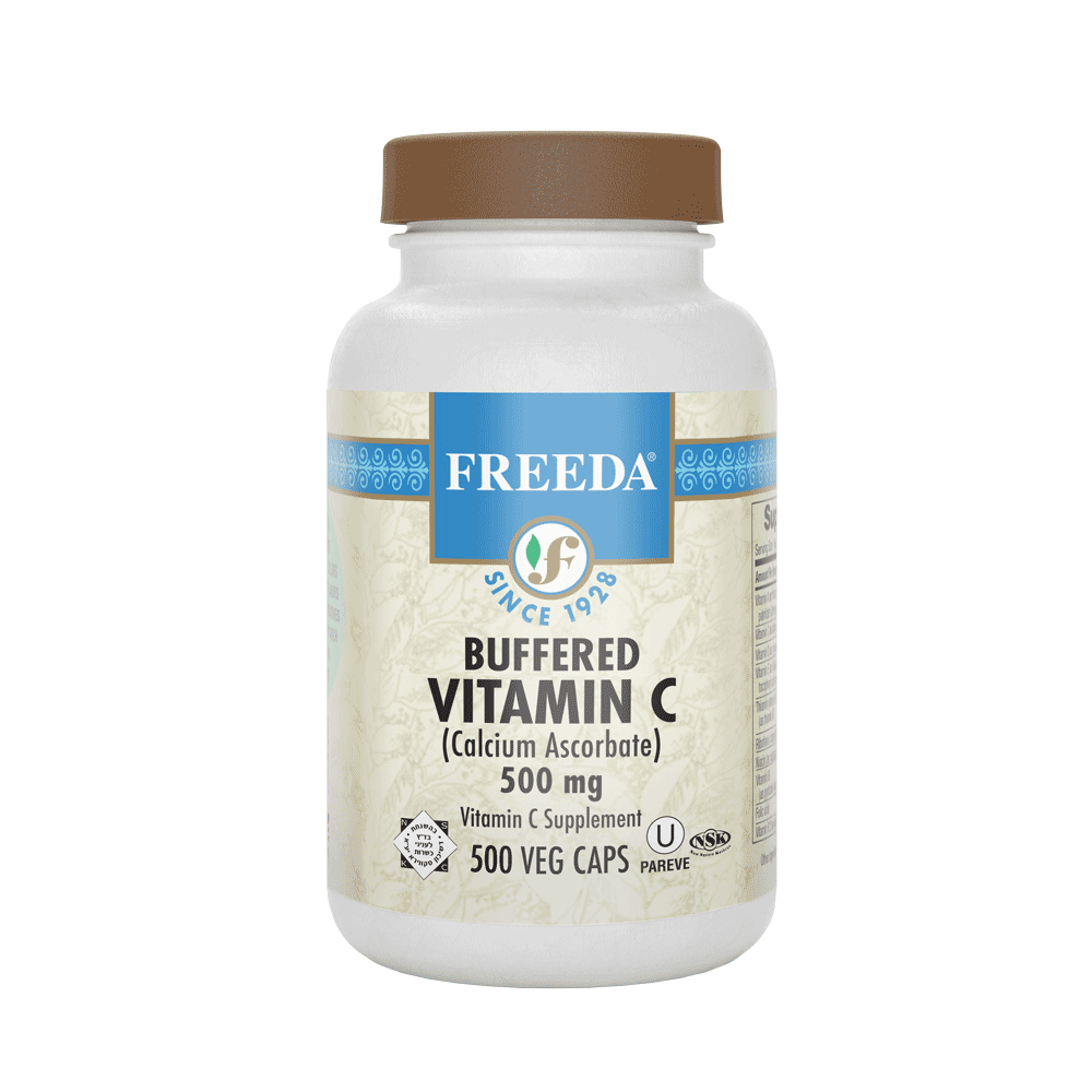 Buffered Vitamin C 500 mg - 500 Capsules - Freeda Health