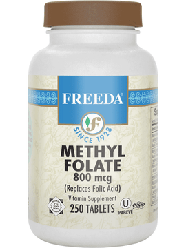 Methylfolate (folic acid) 800 mcg - 250 Tablets - Freeda Health
