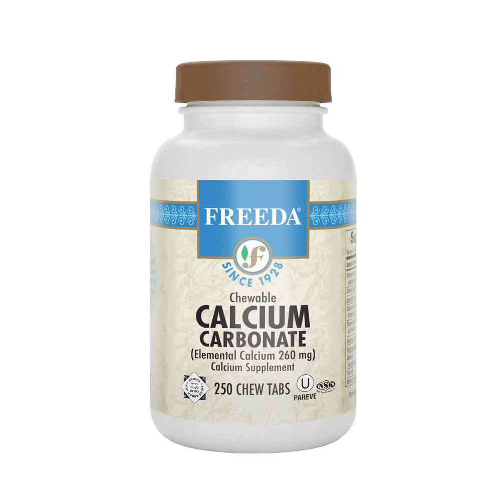 Chewable Calcium Carbonate - 250 Tablets - Freeda Health