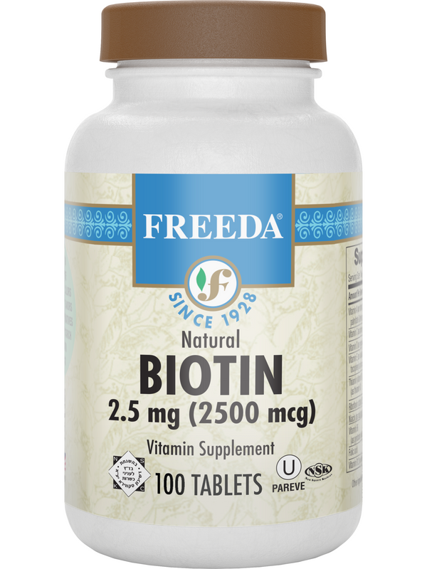 Biotin 2.5 mg - 100 Tablets - Freeda Health