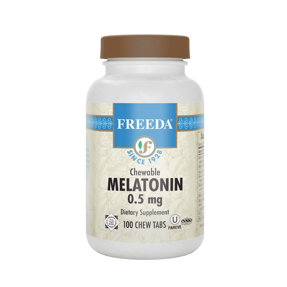 Melatonin 0.5mg - 100 Chewable Tabs - Freeda Health
