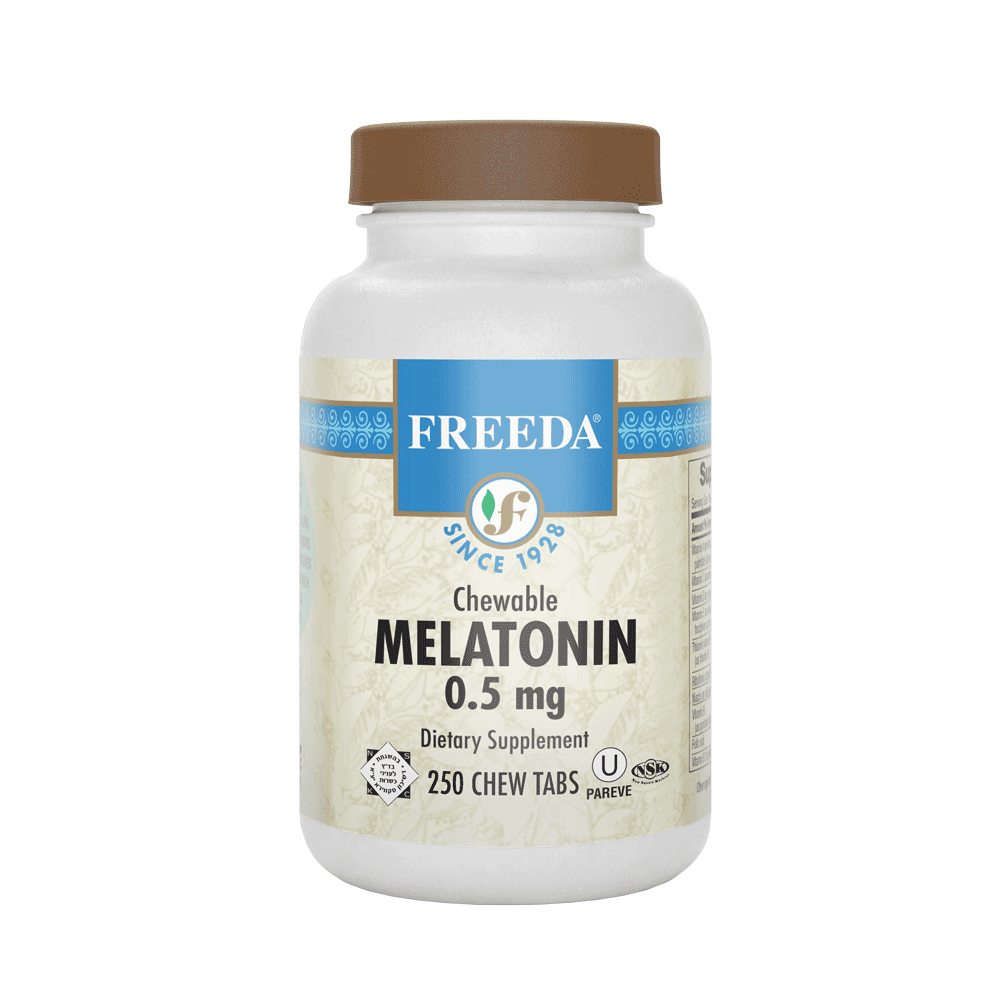 Melatonin 0.5 mg - 250 Chewable Tabs - Freeda Health