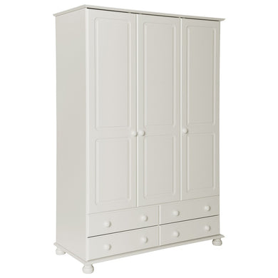 The Copenhagen 3 Door 4 Drawer Wardrobe White
