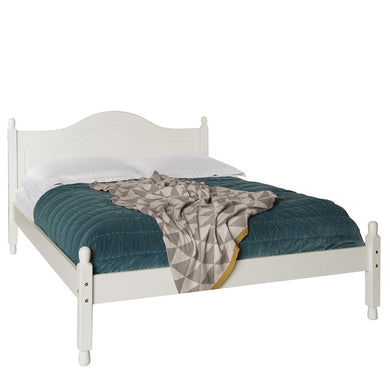 The Copenhagen 4'6 ft Double Bed White