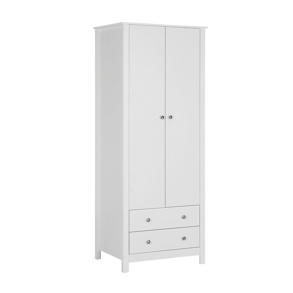 Florence 2 door 2 drawer Wardrobe in White