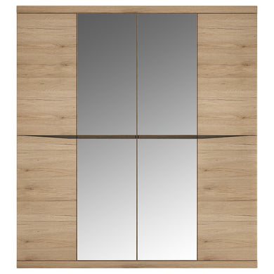 Kensington 4 Door Wardrobe with 2 Mirror doors
