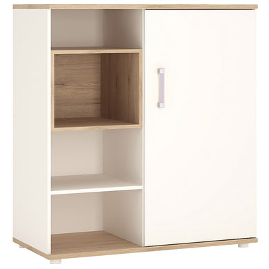 4Kids Low Cabinet with shelves (Sliding Door) Lilac Handles
