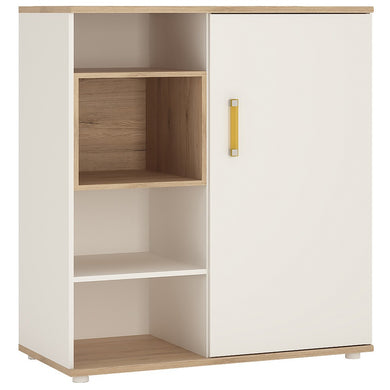 4Kids Low Cabinet with shelves (Sliding Door) Orange Handles