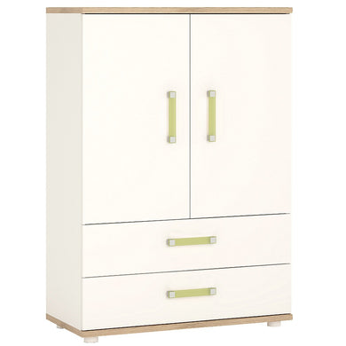 4Kids 2 Door 2 Drawer Cabinet Lemon Handles